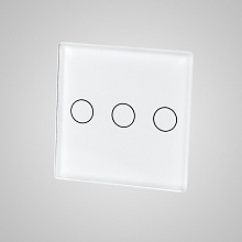 small switch panel size (3 gang 47*47mm to use with frame) white