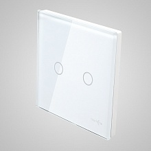 big switch panel size (2 gang with iron frame, 86*86mm) white