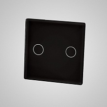 small switch panel size (2 gang 47*47mm to use with frame) black