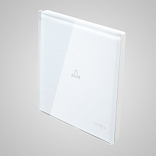 doorbell glass panel (with iron frame 86x86mm) white