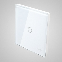 big switch panel size (1 gang with iron frame, 86*86mm) white