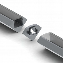 ALU-45 Linear Connector Steel Silver