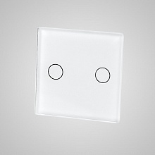 small switch panel size (2 gang 47*47mm to use with frame) white