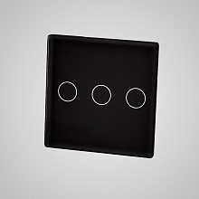 small switch panel size (3 gang 47*47mm to use with frame) black