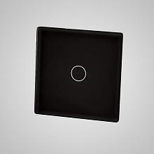 small switch panel size (1 gang 47*47mm to use with frame) black