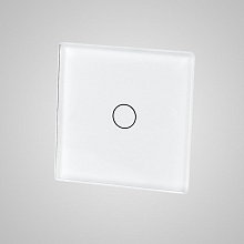 small switch panel size (1 gang 47*47mm to use with frame) white