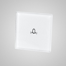 doorbell small glass panel (with iron frame 47x47mm) white