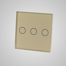 small switch panel size (3 gang 47*47mm to use with frame) gold