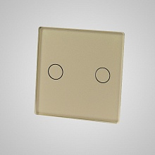 small switch panel size (2 gang 47*47mm to use with frame) gold