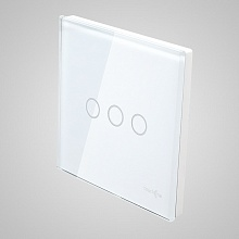 big switch panel size (3 gang with iron frame, 86*86mm) white